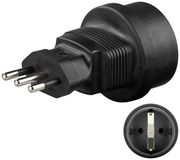 Reisestecker Adapter Stecker Typ F CEE7/4 zu Italien Stecker Typ L CEI 23-16-VII