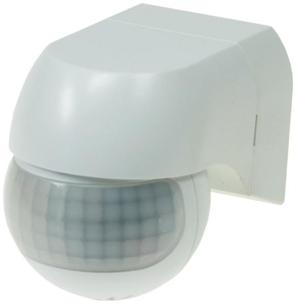 PIR Bewegungsmelder weiß 180° für Innen + Außen LED geeignet max.12m 1-800W SLIM